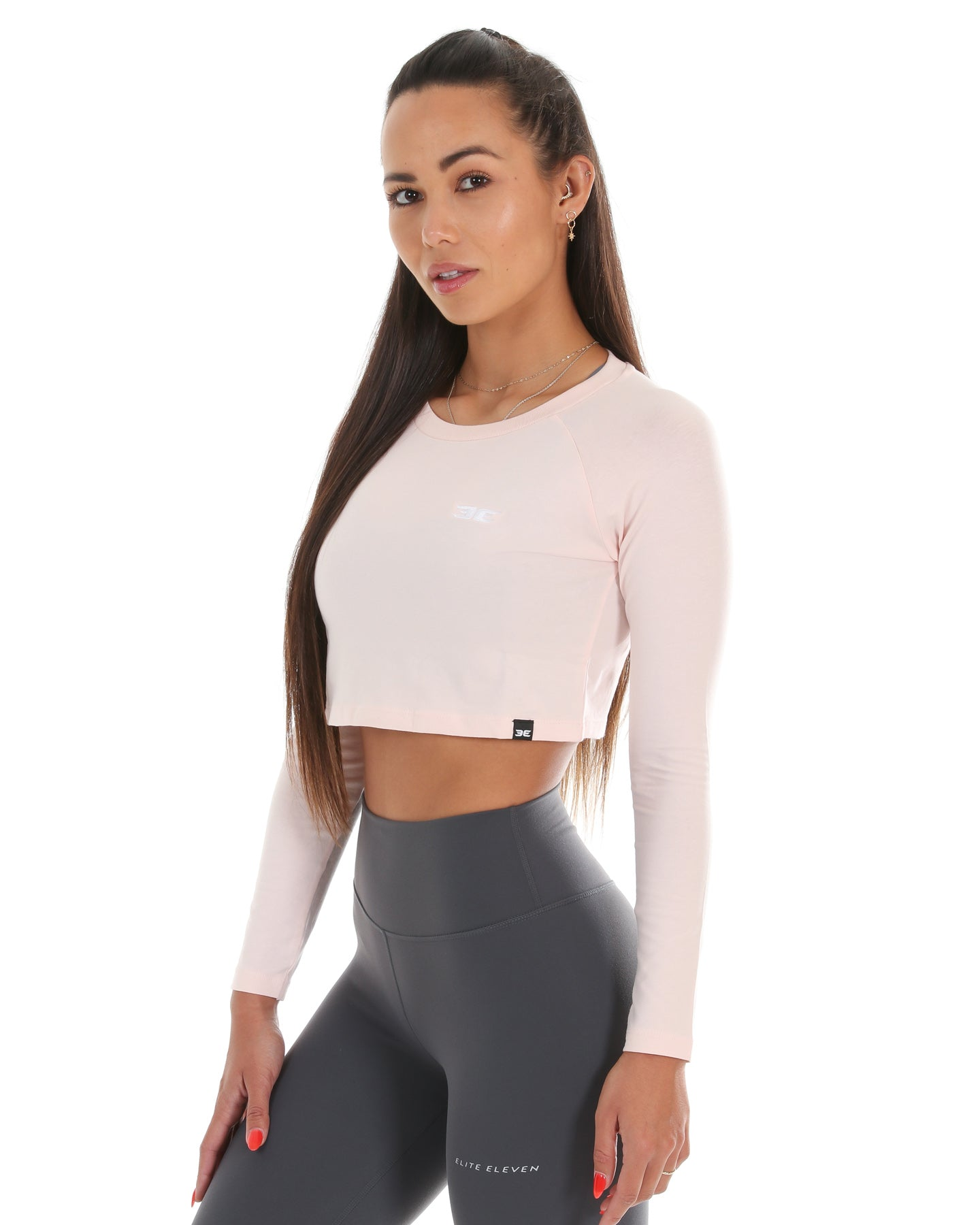 EE Long Sleeve Crop - Pastel Pink