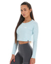 EE Long Sleeve Crop - Pastel Blue