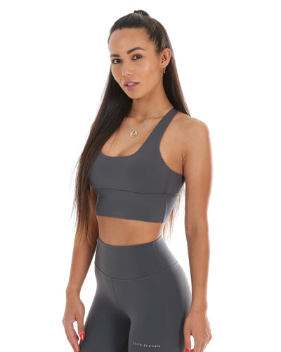 EE Square Neck Bra - Slate Grey