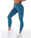 7/8 Control Tights - Teal