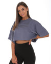 Boyfriend Crop Tee - Steel