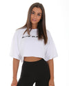 Icon Boyfriend Crop Tee - White