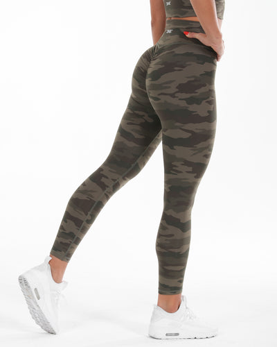 7/8 Touch Scrunch Tights - Camo