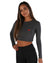 EE Long Sleeve Crop - Charcoal