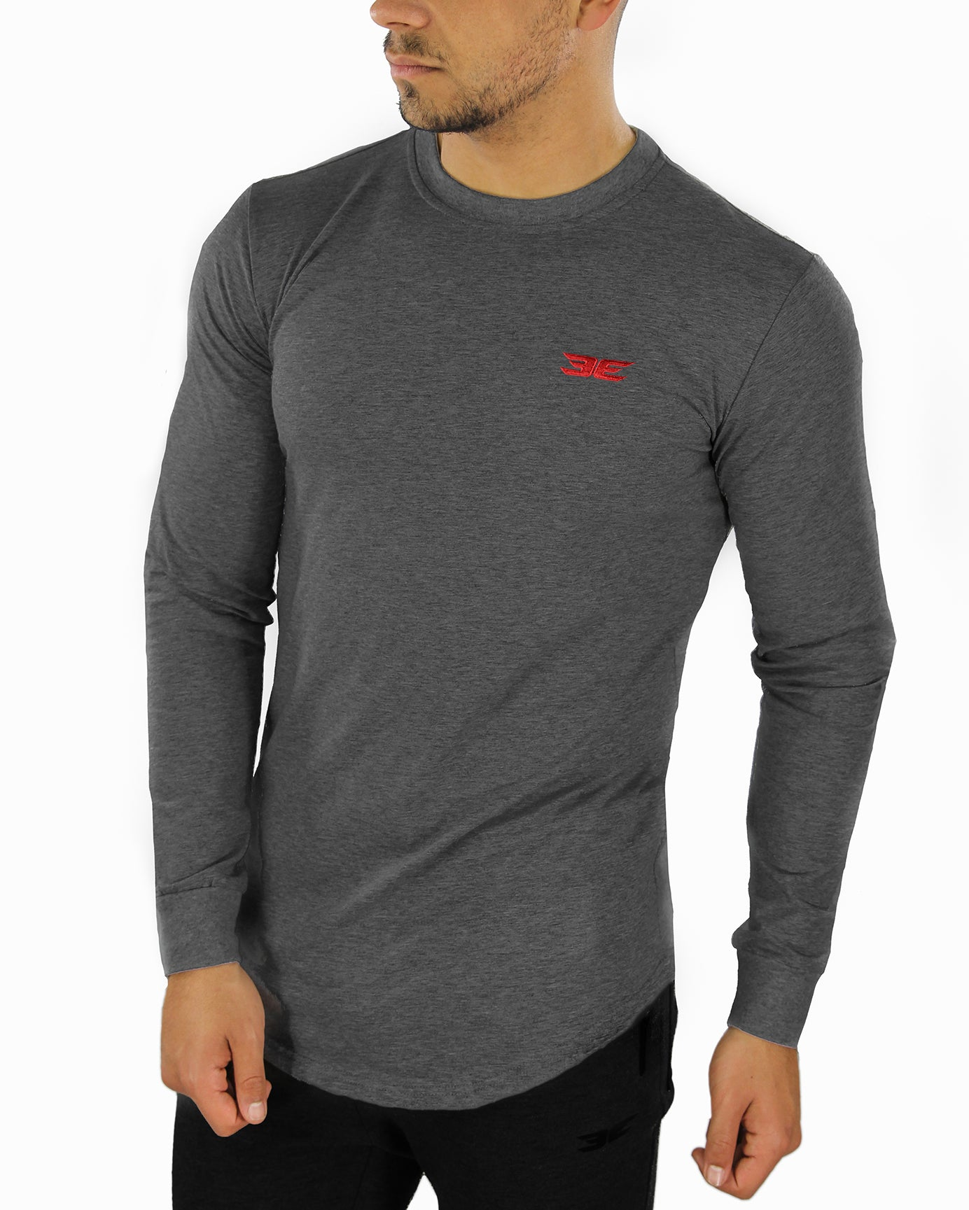 Long Sleeve Scoop - Charcoal