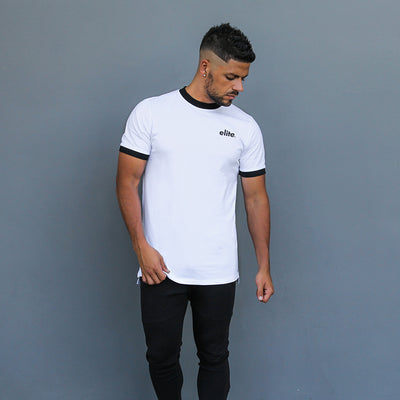 Contrast Tee - White