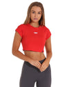 EE Crop Tee - Red