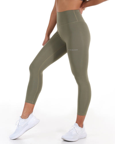 7/8 Touch Tights - Dusty Khaki