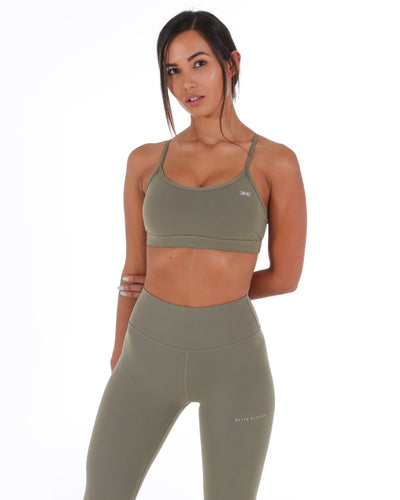 Excite Sports Bra - Dusty Khaki
