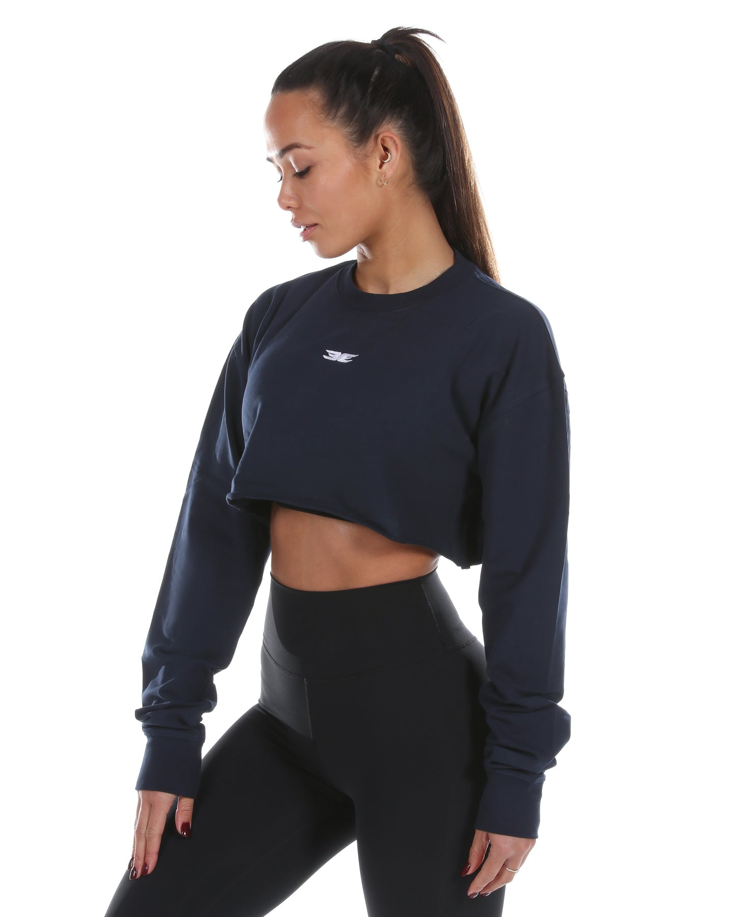 EE Cropped Jumper - Navy