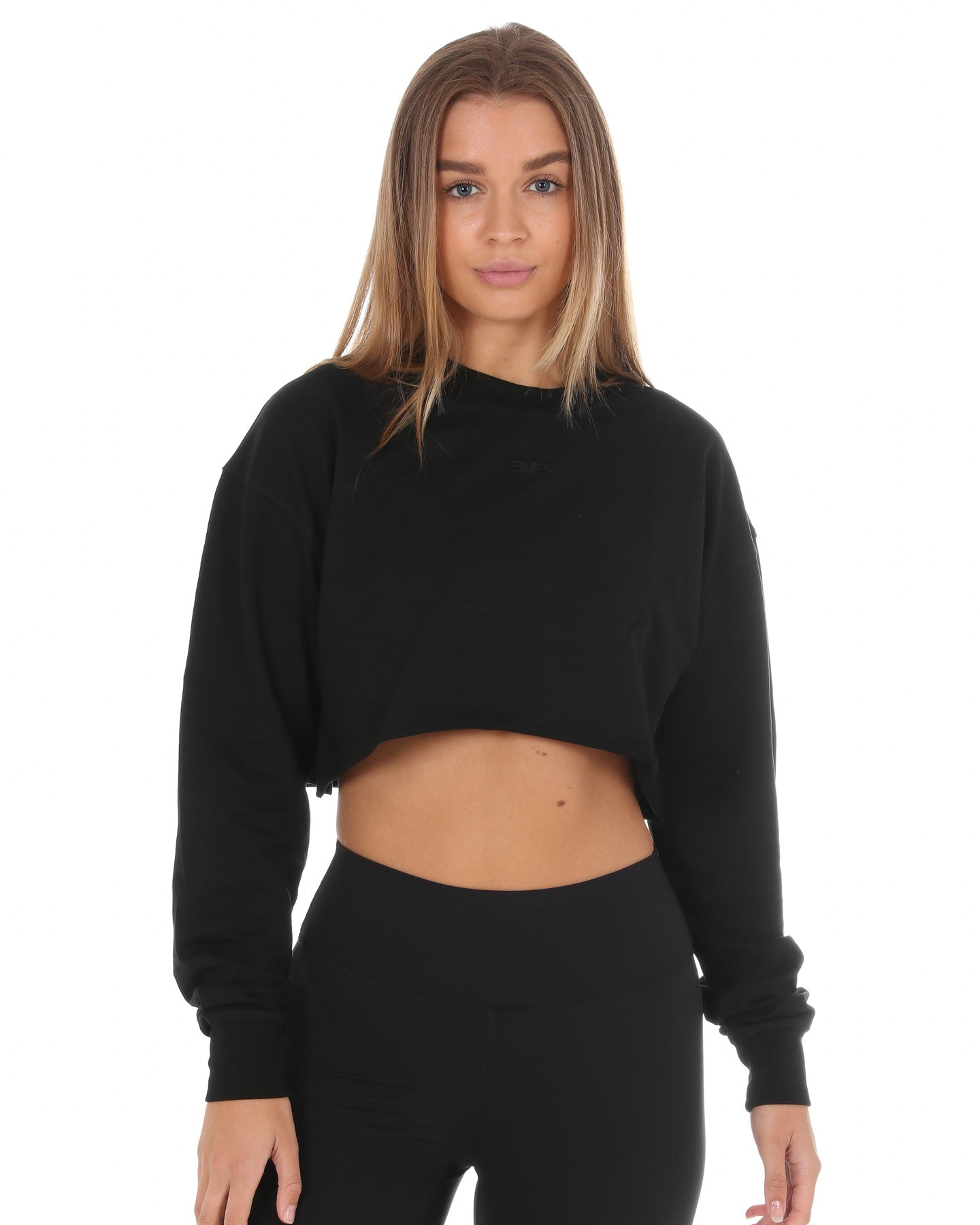 EE Cropped Jumper - Black