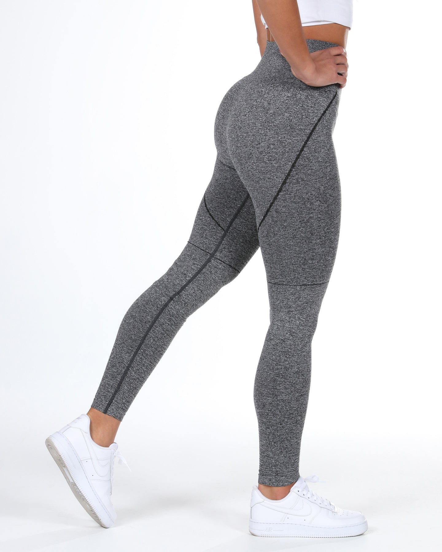 Elite Seamless Leggings - Heather Black