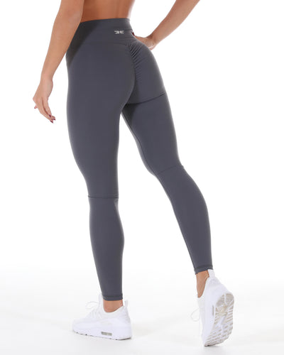 Touch Scrunch Tights - Slate Grey