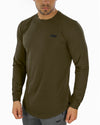 Long Sleeve Scoop - Khaki