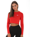 EE Long Sleeve Crop - Red