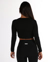 EE Long Sleeve Crop - Black