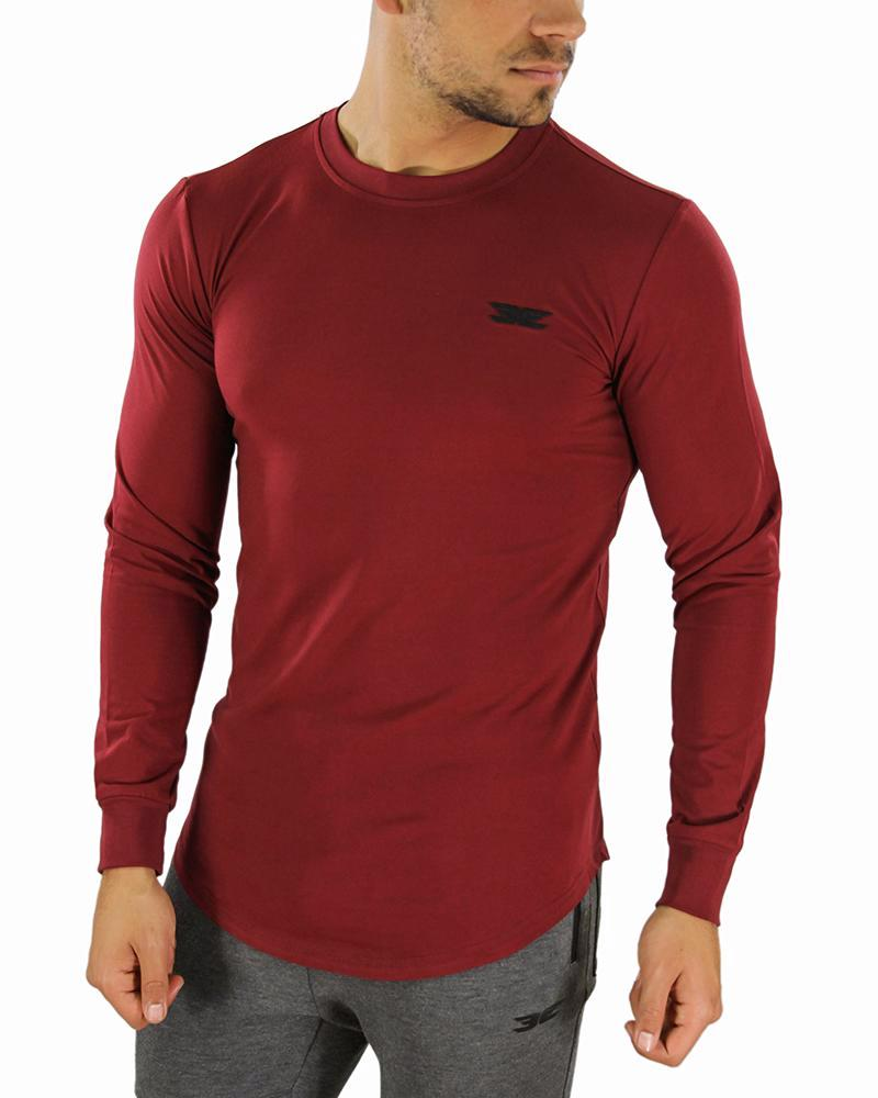 Long Sleeve Scoop - Maroon