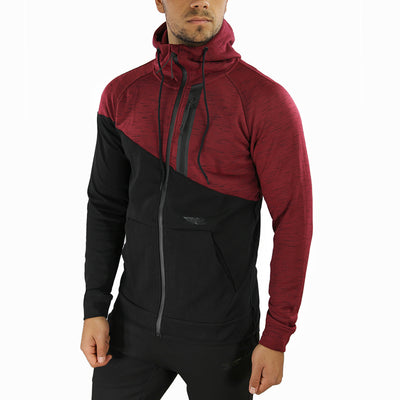 Elite X Zip Up - Black/Maroon