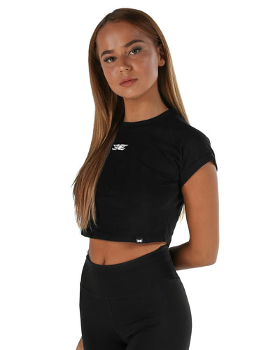 EE Crop Tee - Black