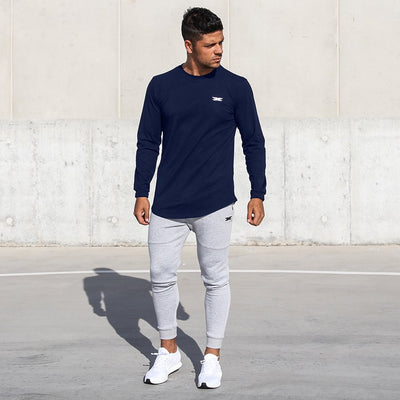 Long Sleeve Scoop - Navy