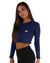 EE Long Sleeve Crop - Navy