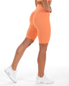 Scrunch Bike Shorts - Pastel Orange