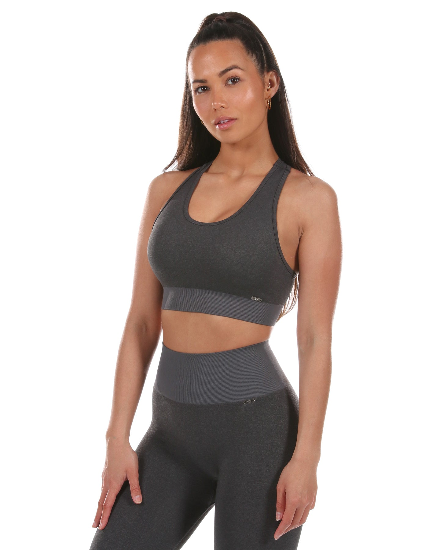 Pure II Seamless Bra - Charcoal
