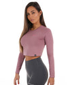 EE Long Sleeve Crop - Rose