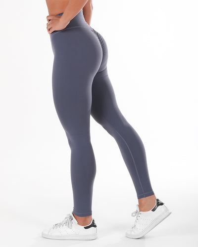 Touch Scrunch Tights - Ocean Grey