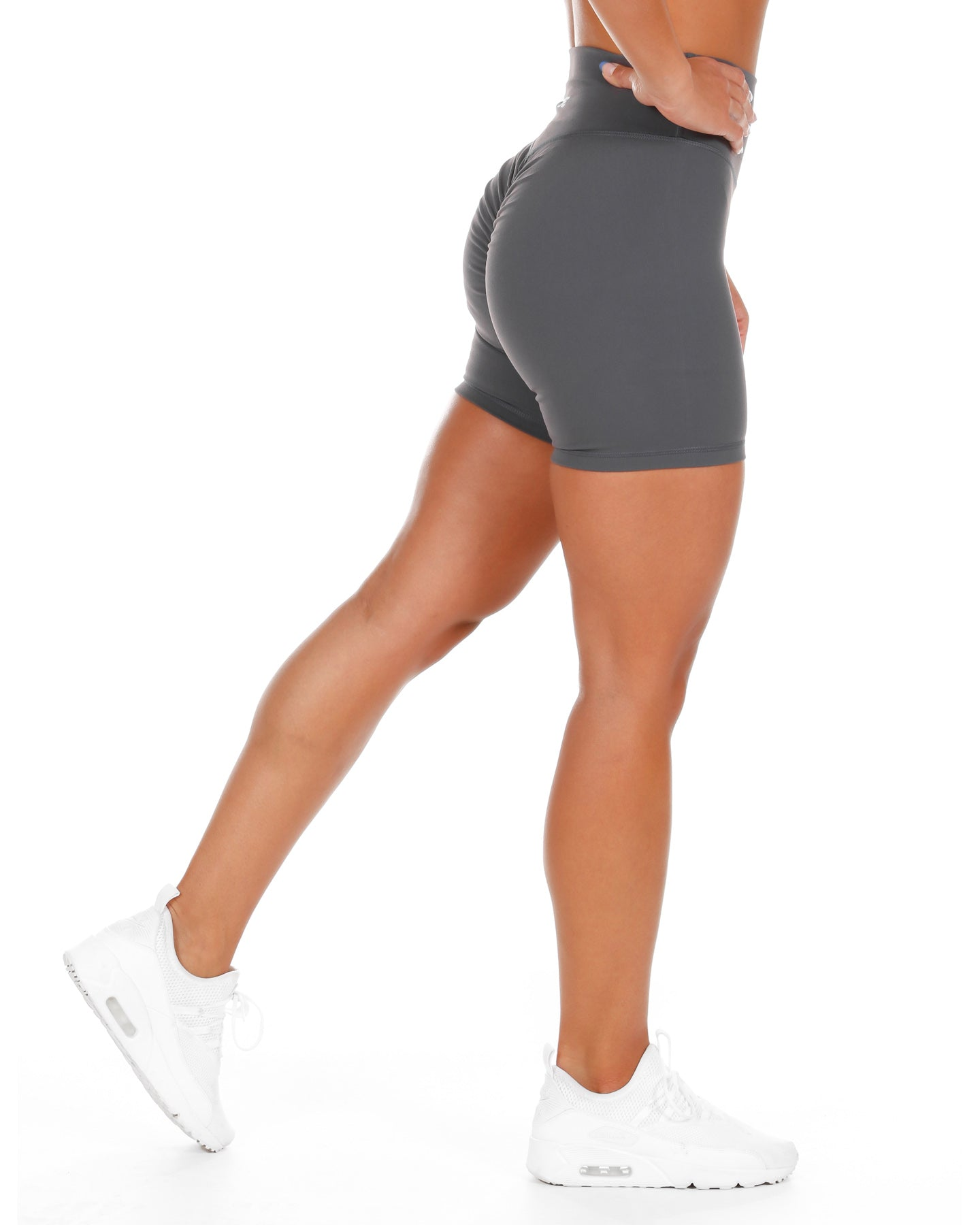 Touch Scrunch Shorts - Slate Grey