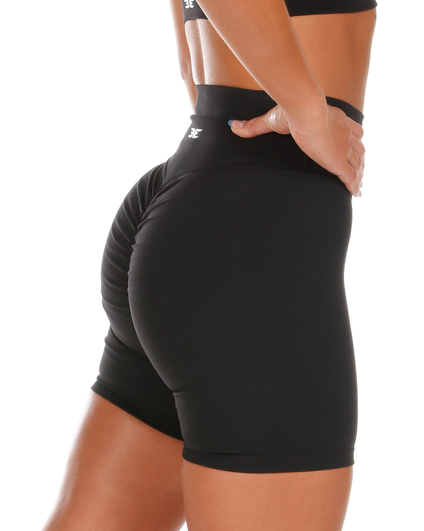 Touch Scrunch Shorts - Black
