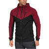 V-Panel Zip Up - Maroon/Black
