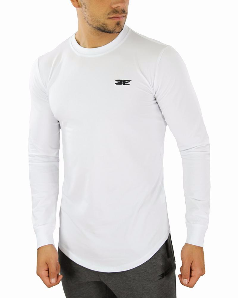 Long Sleeve Scoop - White