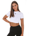 Elite Crop Tee - White