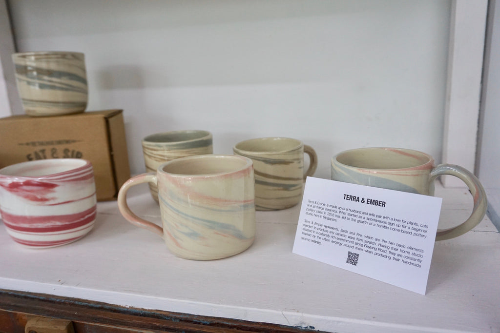 Wheel thrown ceramics in Singapore | handmade pottery Eat & Sip Open Studio