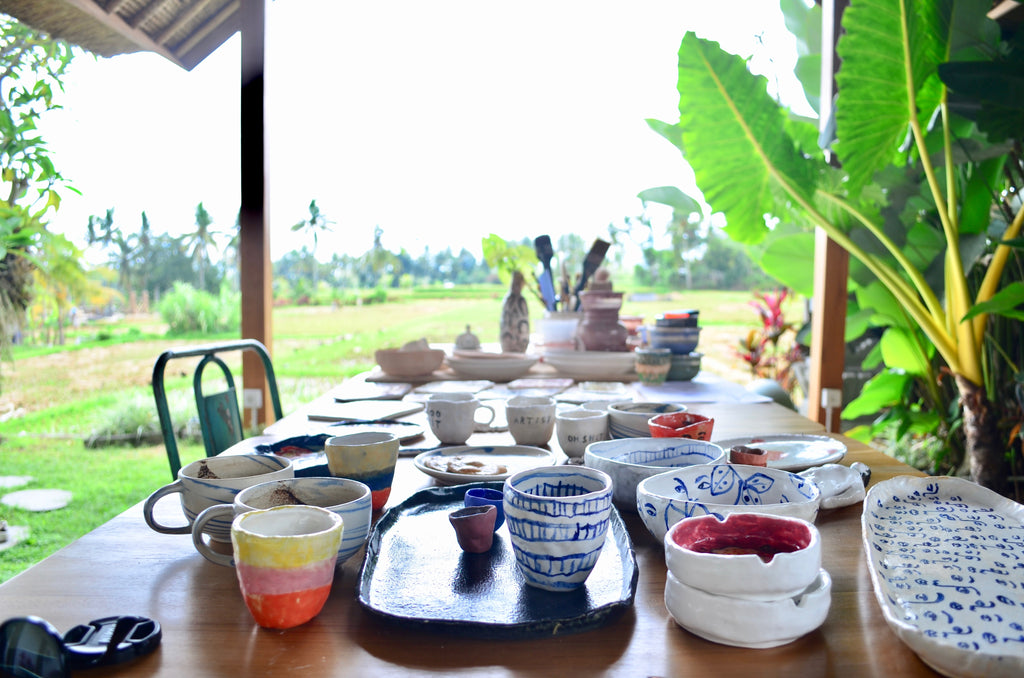 Derau made pottery studio in Bali - Handmade tableware Singapore