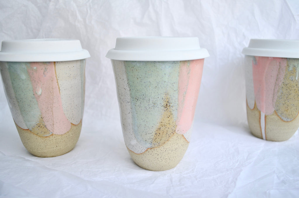 Handmade ceramic keep cup by Matilda Chambers | Eat & Sip pottery Singapore
