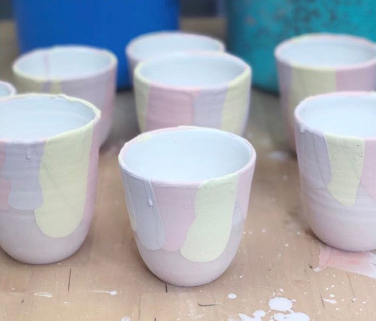 Handmade ceramic cup by Matilda Chambers | Eat & Sip pottery tableware Singapore