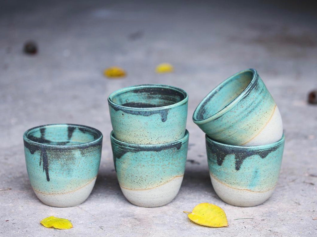 Handmade ceramic takeaway cup by Australian Matilda Chambers | Eat & Sip pottery Singapore