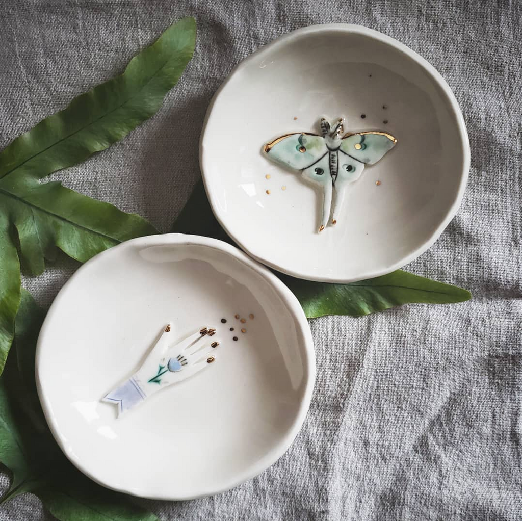 slab built tableware by Vanessa Villarreal | handmade ceramics