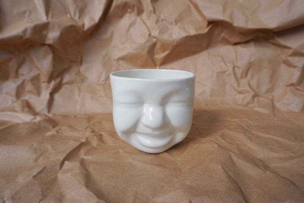 Handmade porcelain cute cup | Singapore pottery