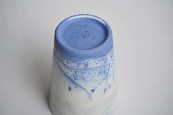 Handmade ceramic marbled cups in Singapore | Slip-casted tableware