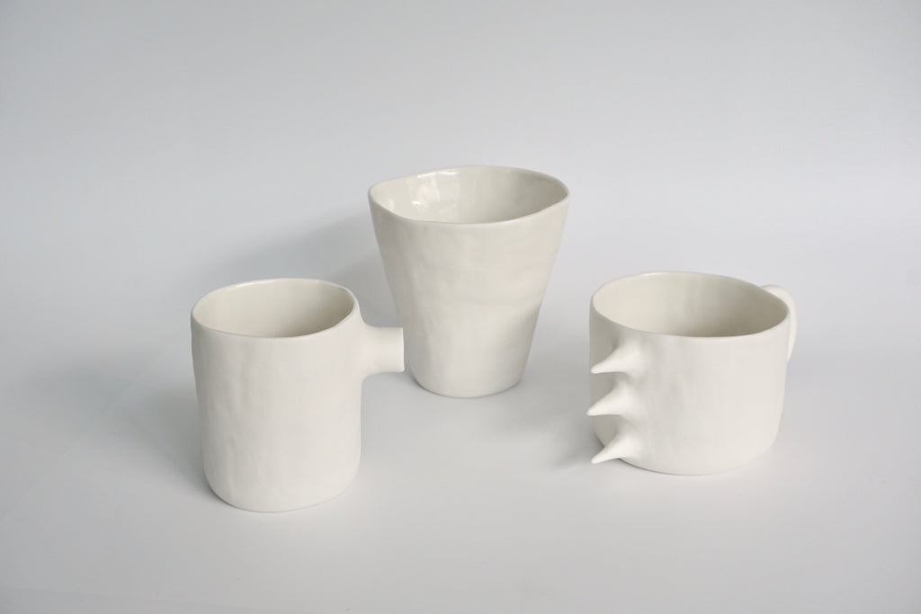 Handmade tableware in Singapore | porcelain cup by Kira Ni