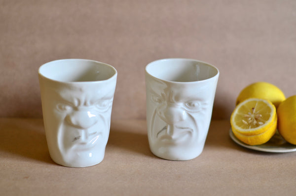Ceramic porcelain handmade sculpture mugs stocked in Singapore