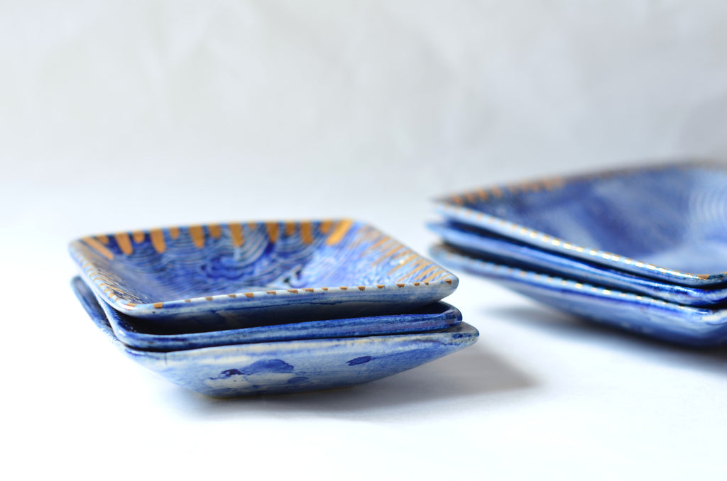 Handmade wave plates - The Tableware Curators sg