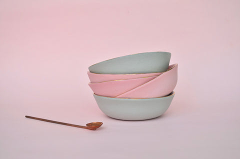 Handmade porcelain nibble and trinket bowl - Eat & Sip ceramics, Singapore