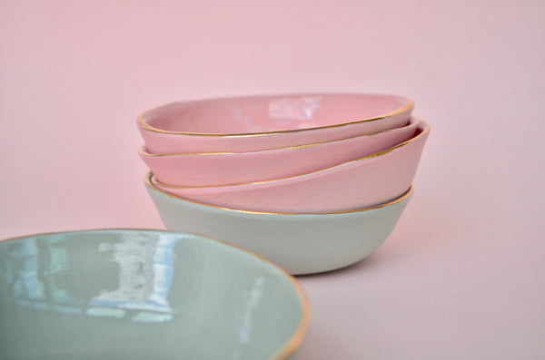 Handmade porcelain trinket and nibble bowl - Eat & Sip ceramics in Singapore