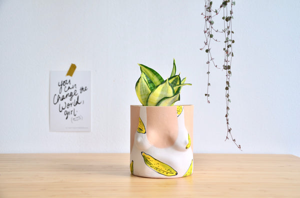 Mother in laws tongue Banana Female planters in Singapore - handmade tableware