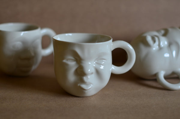 Handcrafted sculpture mug