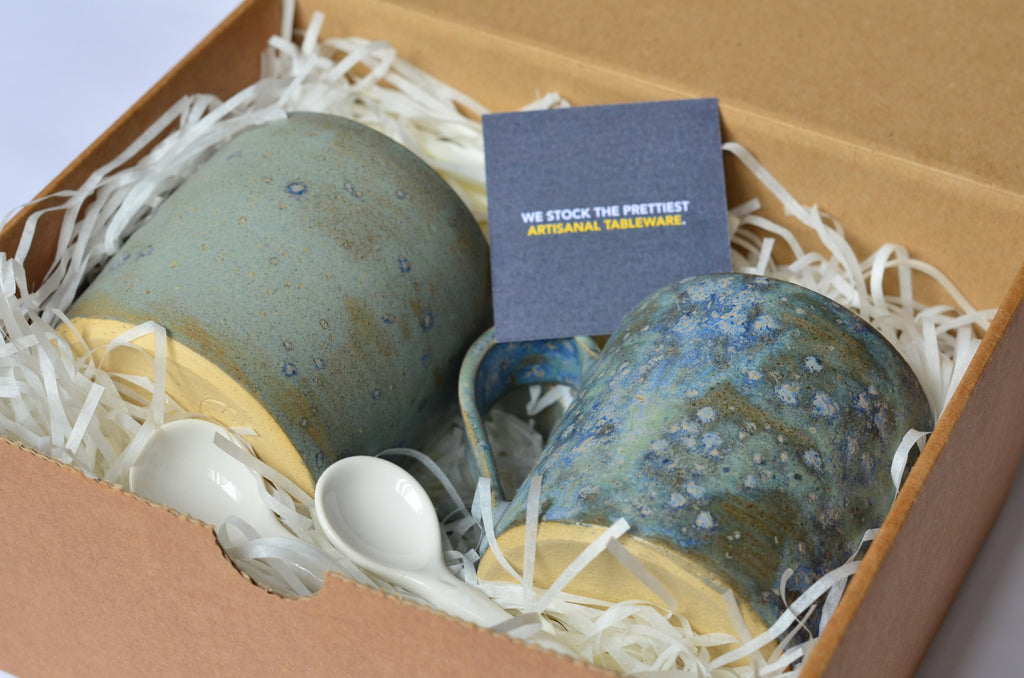 Handcrafted Mugs gift box for newly-weds | Eat & Sip